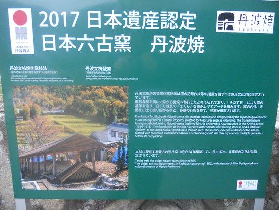 Shinsui Kiln: information sign for site