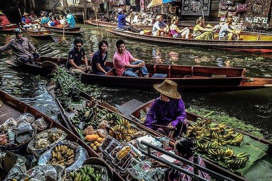 Mercado flotante de Damnoen Saduak y...