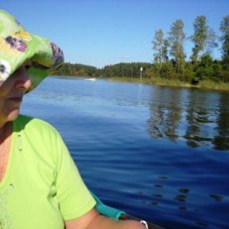 Seliger Lake: Селигер. Вдали вёшки, обозначающие фарватер