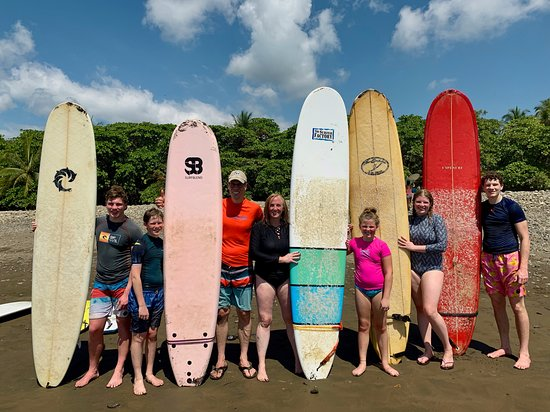 Beginner Surf Lesson: Our fam after a day in the whitewater at Dominical