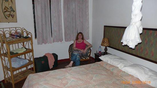 Sambiya River Lodge: More than enough room! Wardrobes and desk out of view.