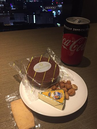 Snack in the club lounge