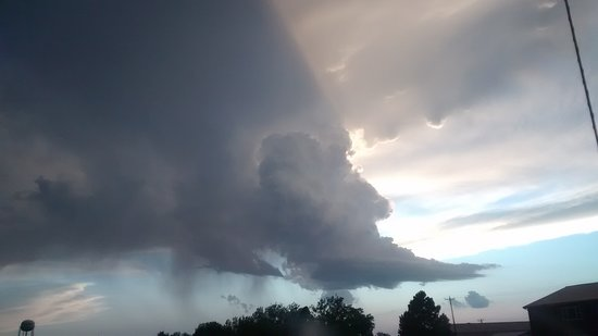 """This Cloud was over the Distillery when we departed form Kadoka. I though it was fitting """"OLD MAN WHISKEY"""". Beard and All...."""