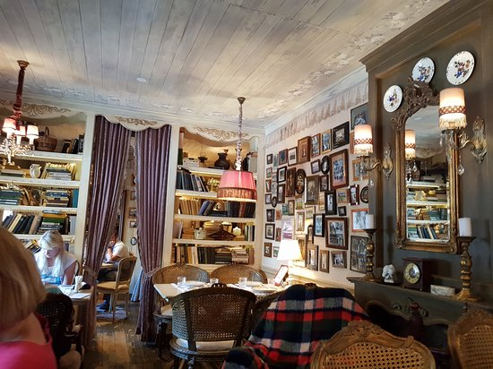Mari Vanna: View from our table - cluttered look, but manages to remain warm and cosy.