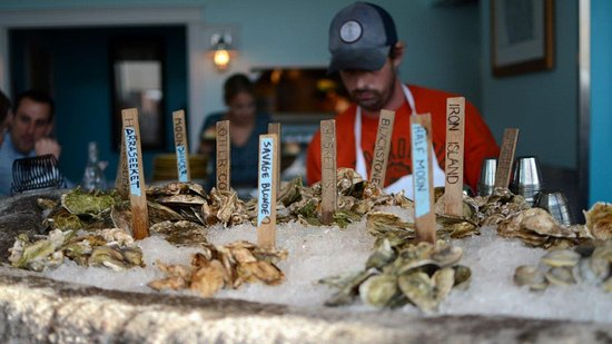 Eventide Oyster Company: Lots of fresh oysters, including some local from Casco Bay