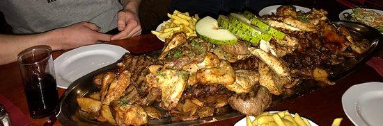 Meat platter for 4.