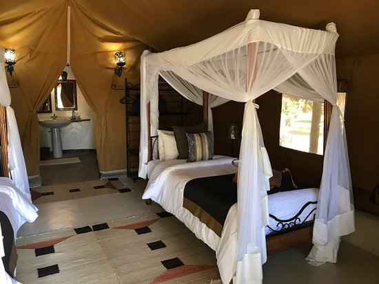 A clean, well-maintained and well-staffed safari camp.