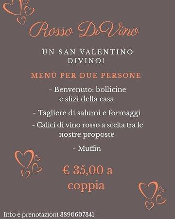 Rosso DiVino enoteca - wine bar: Rosso DiVino propone: San Valentino DiVino! Menù €35,00 a coppia.. Il tutto accompagnato dalla meravigliosa musica di Antonio Franzese e la sua tromba..  Per info e prenotazioni 3890607341