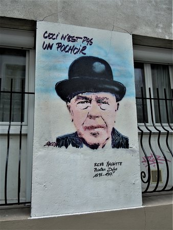 Fresque Rene Magritte et Frida Kahlo