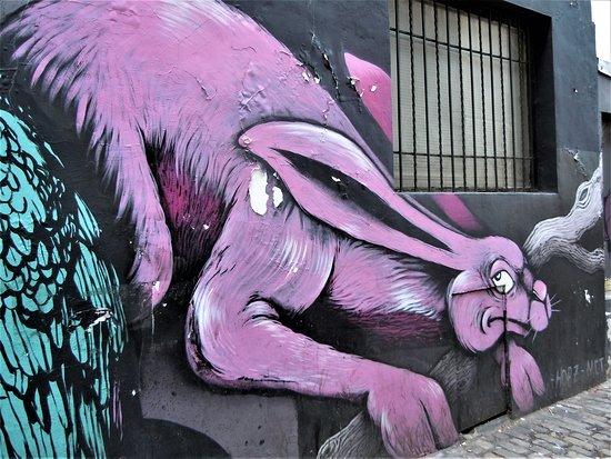 Fresque Le Lièvre et L'Éléphant