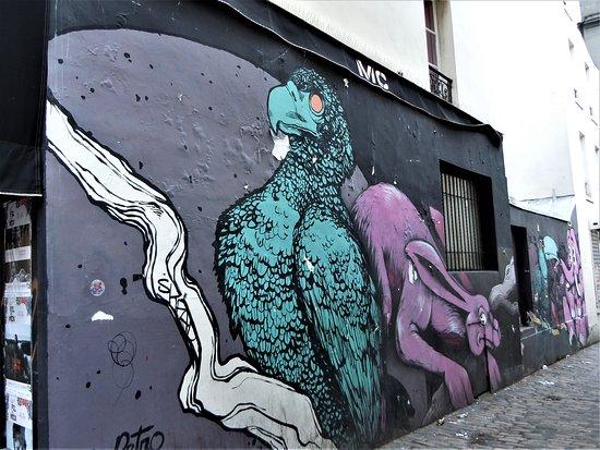 Fresque Le Lievre et L'Elephant