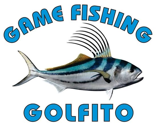 Golfito, Costa Rica: Our beautiful logo, including the awesome Roosterfish, which made our Captain Robin Blanco earn his world record