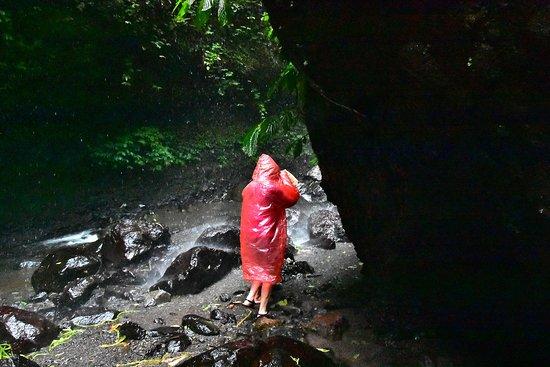 Madakaripura Waterfall: The stream bed IS the path...under the falls.
