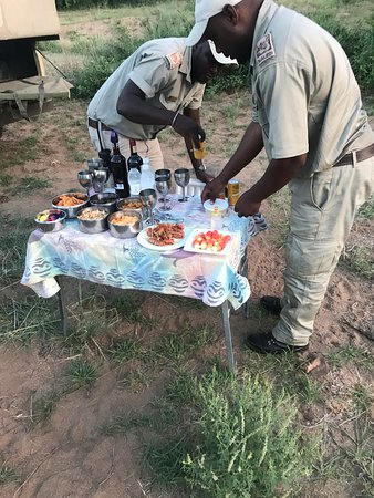 Afternoon game drive snacks