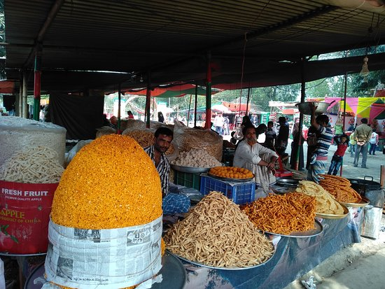 Colorful Bangladeshi sweets.