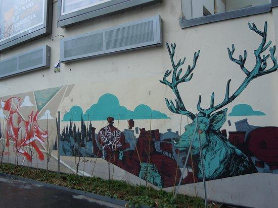 Fresque Le loup et le Cerf