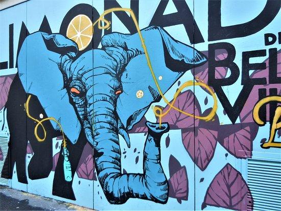 Fresque Elephant Vert-2
