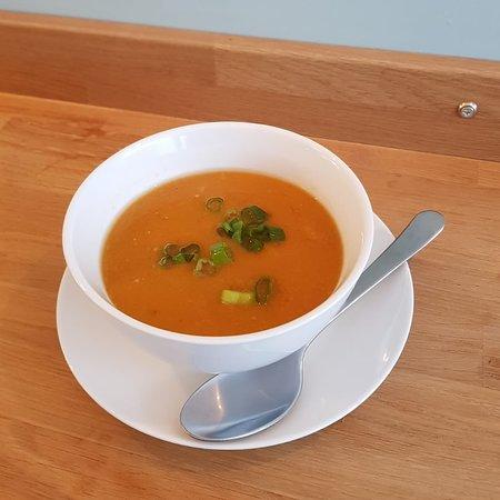 Home grown butternut squash soup