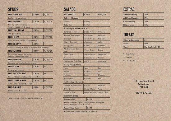 Winter menu 2018/2019