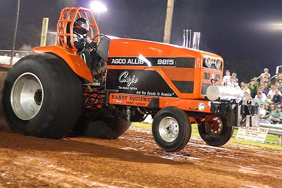 Cujo has a bark and a bite -- chewing up the competition at the Alabama Tractor and Truck Pull in Tanner AL benefiting sports and pe programs at Tanner Elementary, Tanner Middle, and Tanner High School.
