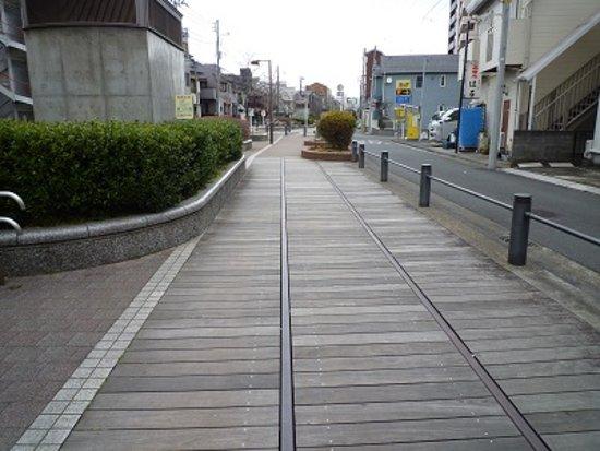Toyoko Flower Green Way: 線路が残された、遊歩道
