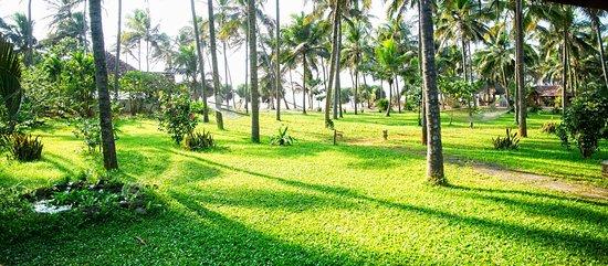 View towards the beach from our veranda - a Sea View Villa