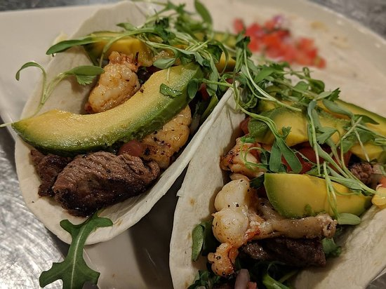 Reef & Beef Tacos! #DateNight #AGAVEkitchen #NachoFarm