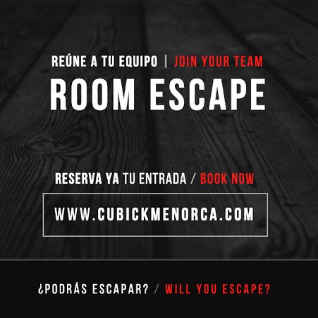 Cubick Room Escape Menorca