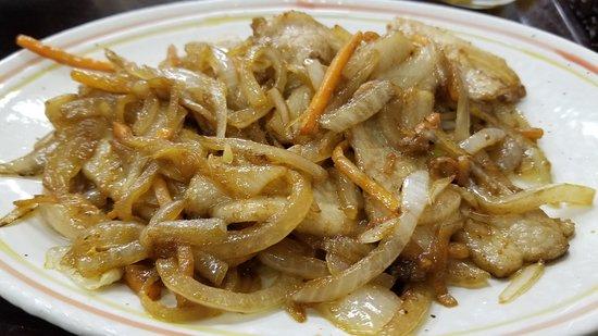 豚生姜焼き定食(740円)