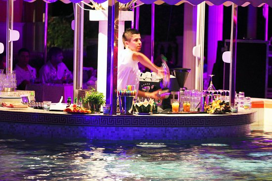 Rogoznica, โครเอเชีย: The pool bar is perfect place to sip summer cocktails while sitting relaxed in the shallow part of the pool or on cozy sundecks in the shade of the terrace.