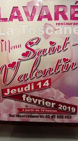 Sarthe, France: Dîner Saint Valentin