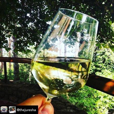 Fine glass of white wine.