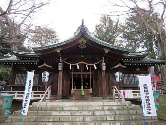 Nakano, Japan: 拝殿前にて
