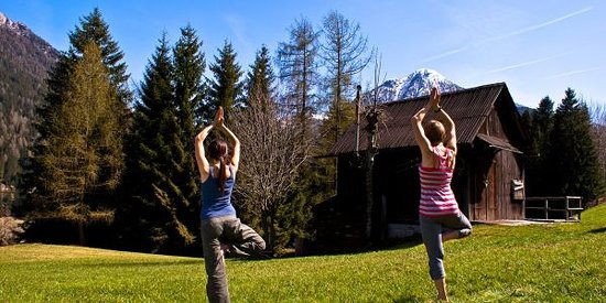 Fassa Valley, Italy: Yoga Out door