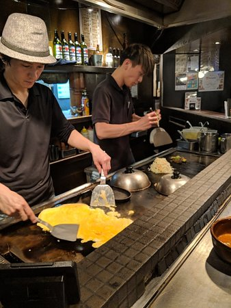 Great Okonomiyaki cooked in front of you! 👌