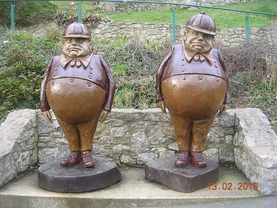 Tweedle Dum & Tweedle Dee Sculptures