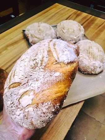 Home baked sourdough bread