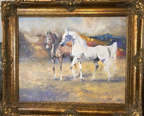 Grand Cul-de-Sac, St. Barthelemy: artist ahmed alkarkhi     Horses        $8800