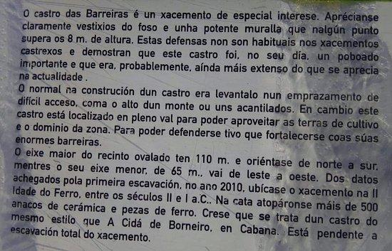 Vimianzo, Spain: A 50 metros: Castro das Barreiras, de facilísimo acceso.