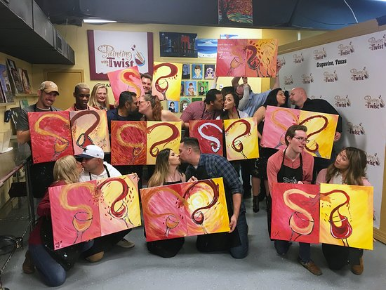 Painting And Wine Is A Unique Date Night Idea Picture Of Painting With A Twist Grapevine Tripadvisor