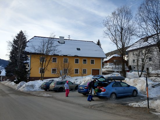 Lessach, Austria: Parking places.