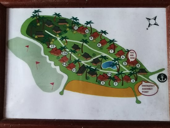 Остров Тоберуа, Фиджи: Map of Toberua Island
