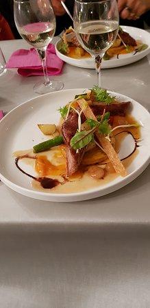 Estarvielle, France: filet de porc sauce mirabelle