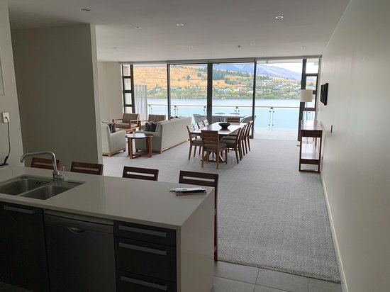 View from kitchen into dining room, living room and the mive ... Interior Doors Queenstown on