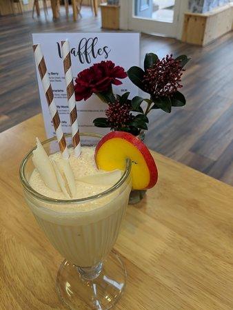 Brora, UK: Banana and Passionfruit milkshake