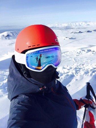 Skalafell, Islandia: Better phone, views all over