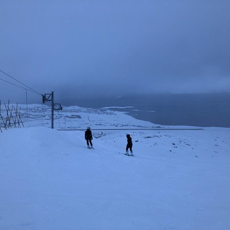 Nuuk, กรีนแลนด์: Afternoon view down the hill