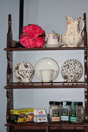 The tea side. Have many choices of tea to choose from.