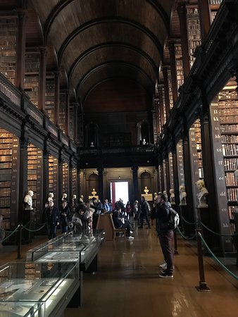 The book of kells and old library exhibition