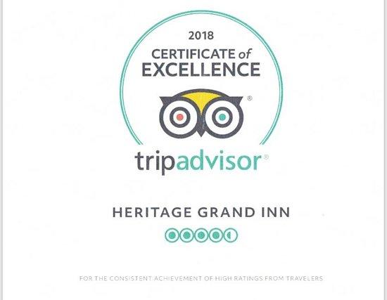 Canton, IL : 2018 TRIPADVISOR CERTIFICATE OF EXCELLENCE AWARD WINNER